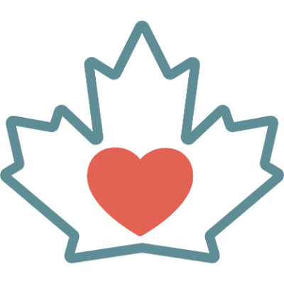maple leaf heart icon